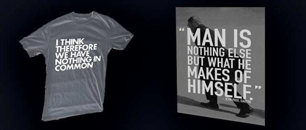Tişörtteki felsefe: İnsan kendini yapabilir