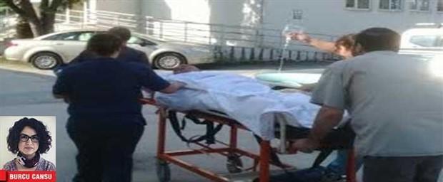 Başbakan helikopterde, hasta yurttaş bahçede sedyede!