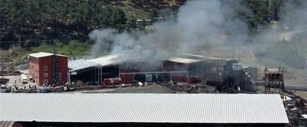 İmbat maden ocağında yangın çıktı, işçiler tahliye edildi