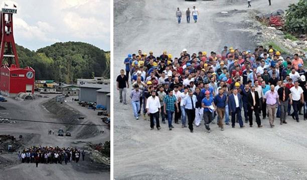 HEMA madencileri, çift asgari ücret hakları için iş bıraktı