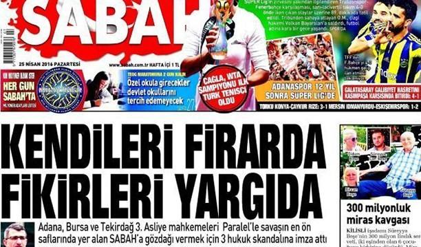 Sabah gazetesine 35 bin lira tazminat cezası