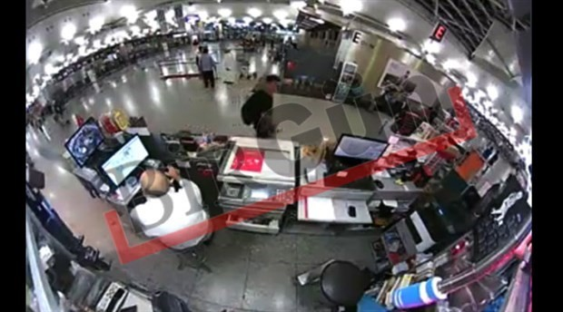 Clearest video of the airport attack so far: terrorists are inside with guns