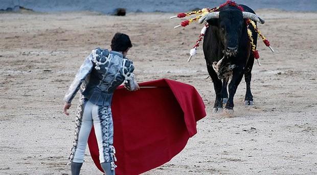 Boğa kendisine saldıran matadoru öldürdü