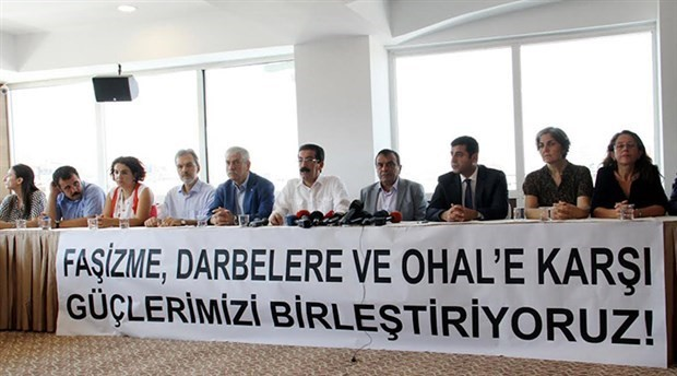 Labor unions, parties, and NGOs launch a 'union of forces against fascism, coups, and OHAL