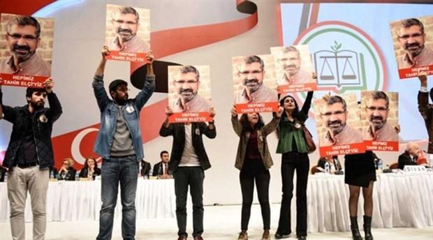 İstanbul Barosu Genel Kurulunda Tahir Elçi eylemi