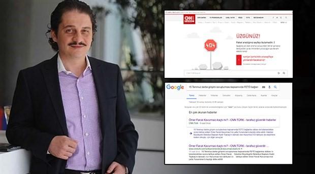 CNN Türk 'Ömer Faruk Kavurmacı kaçtı mı?' haberini kaldırdı
