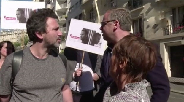 Journalists in France protest Turkey over detention of Mathias Depardon