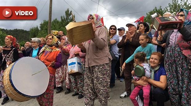 Köylülerin protestosu ÇED toplantısını iptal ettirdi