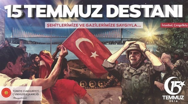 Image of an American soldier used in official posters for July 15 ceremonies in Turkey