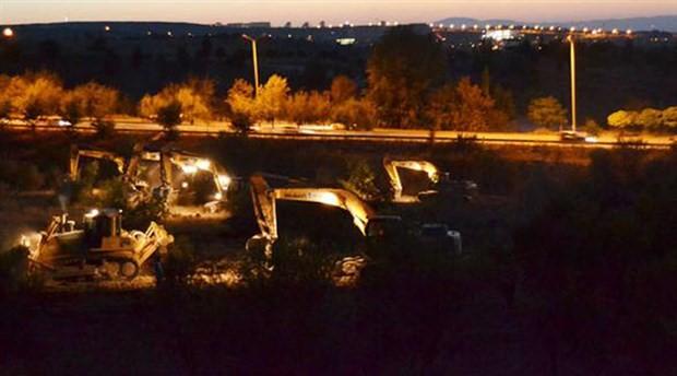 Belediye ile rektörlük anlaştı: İş makineleri ODTÜ ormanında!