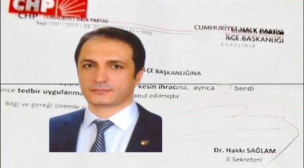 CHP Bağcılar İlçe Başkanı disipline sevk edildi