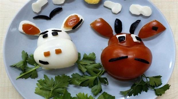 Sağlıklı besinleri çocuklara eğlenceli bir biçimde sunun