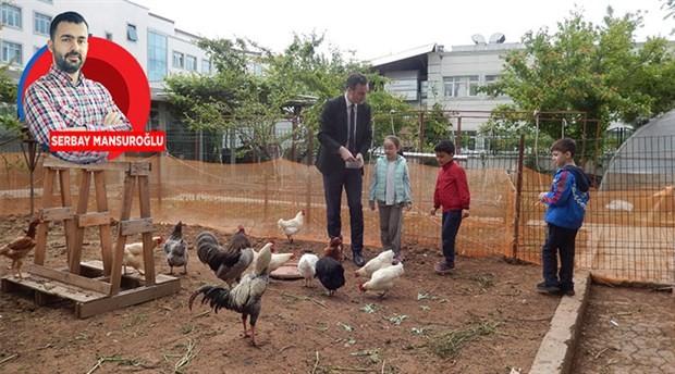 Çocuklara ekolojinin öğretildiği bir eğitim