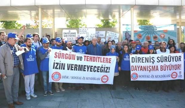 Kod-A işçilerinden İTÜ önünde eylem: Biz kazanacağız!