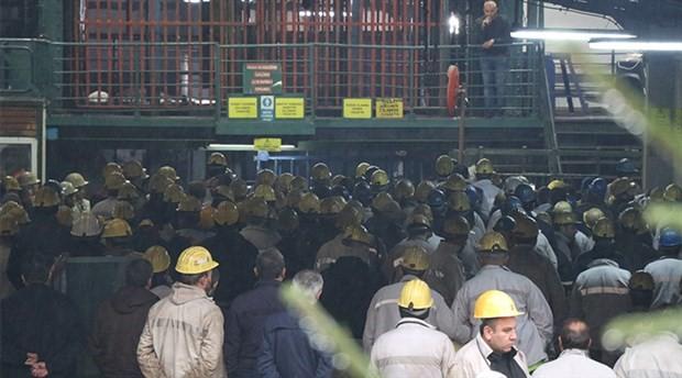 2 bin madenci ocaktan çıkmama eylemi başlattı