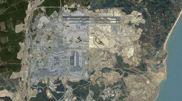 3. Havalimanı inşaatının yıllar içindeki değişimi uzaydan görüntülendi
