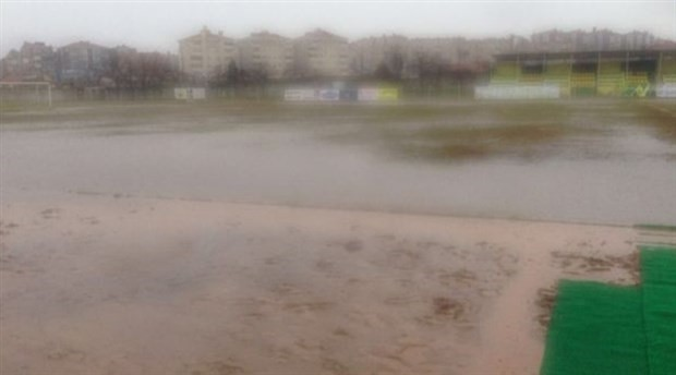 Sahayı su bastı, BAL Ligi maçı tatil edildi