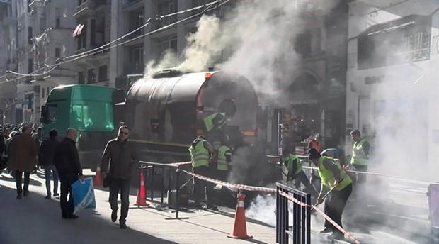"""""""Yeşil yol"""" diye halka eziyet: İstiklal Caddesi toz duman!"""