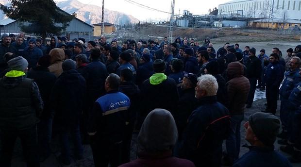 Eti Bakır işçisi grevde!