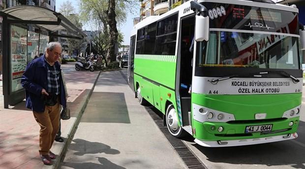 Halk otobüsünü çalan adam duraktan yolcu alarak yola devam etti
