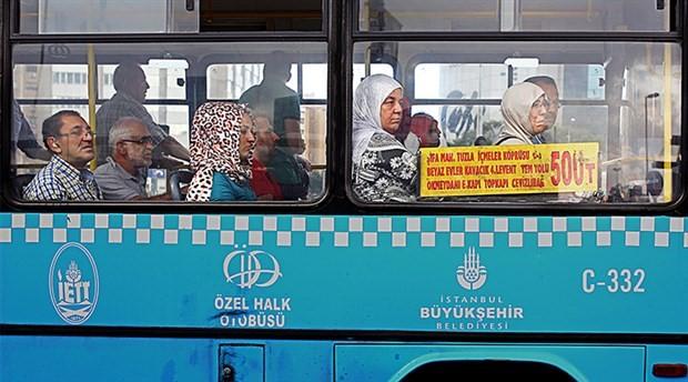 Otobüs en çok kullanılan toplu taşıma