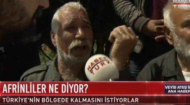 Afrinli 'ÖSO talan etti' dedi, Habertürk 'YPG' diye çevirdi
