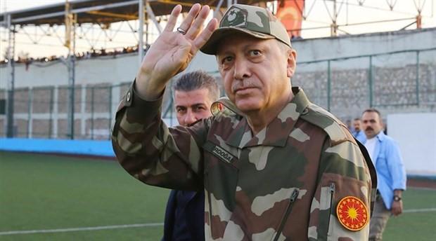 Erdoğan, sınır birlikleri ziyaretine kamuflajla gitti