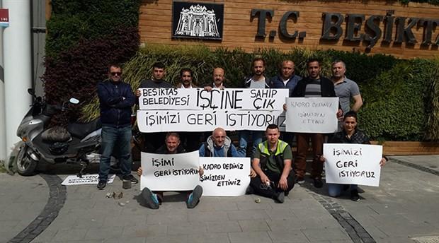 Beşiktaş Belediyesi işçileri de eylemde: İşimize geri dönene dek buradayız!