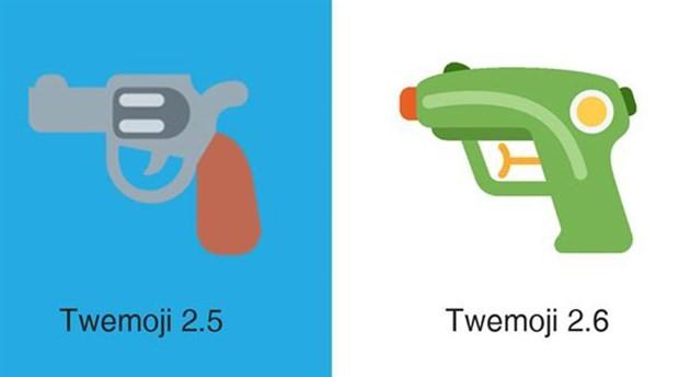 Twitter silah emojisini su tabancasıyla değiştirdi