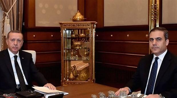 Cumhurbaşkanı Erdoğan, Hakan Fidan ile görüşüyor