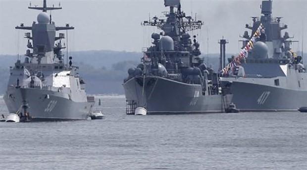 Rus savaş gemileri Akdeniz nöbetinde