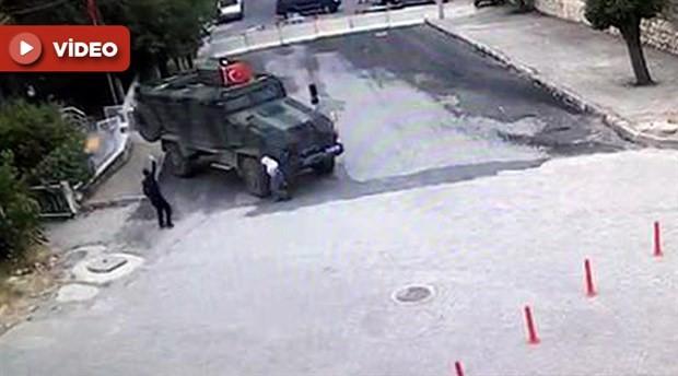 Zırhlı aracın 85 yaşındaki kadını ezerek öldürmesi güvenlik kamerasında