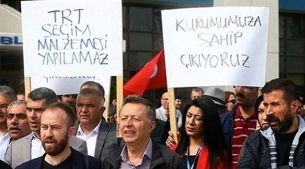 TRT çalışanları eylem yaptı: Tarafsız yayınız