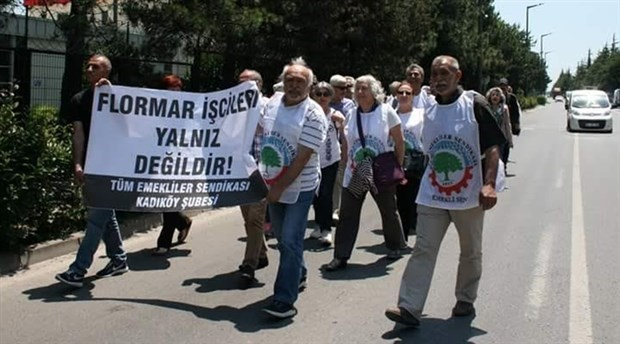 Tüm Emekliler Sendikası direnen Flormar işçilerini ziyaret etti