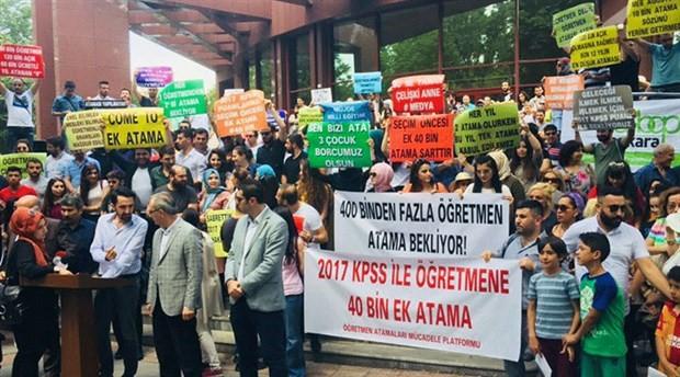 Atanmayan öğretmenler haykırdı: 40 bin ek atama talep ediyoruz