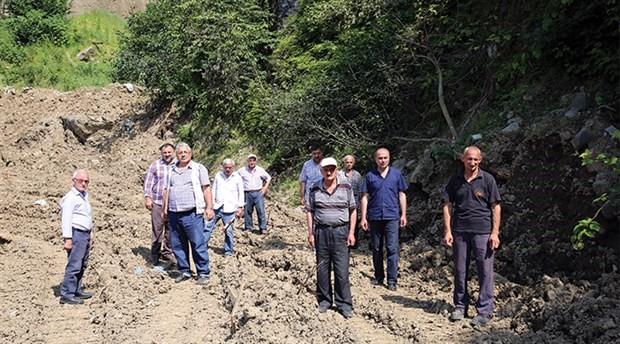 Boru hattı arazilerinden geçen köylülerden tepki