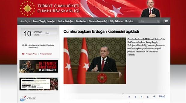 Başbakanlık sitesi, Cumhurbaşkanlığı resmi internet sitesine yönlendiriyor