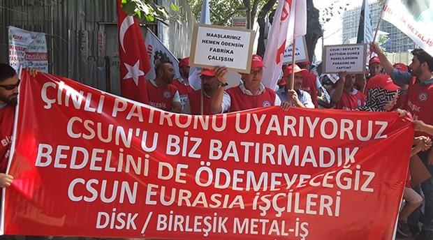 CSUN işçilerinden İŞKUR önünde eylem