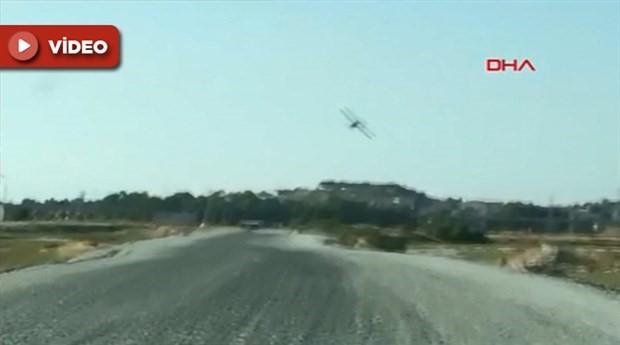 A Haber ekibini taşıyan otomobile uçak çarptı