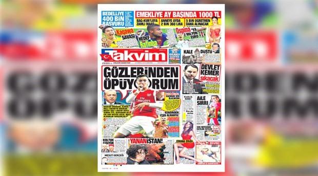 Yandaş gazeteden skandal kelime oyunu: 'Yananistan'