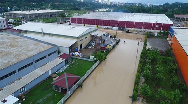 Fatsa'da sağanak: OSB sular altında