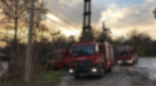 Tuzla Piyade Okul Komutanlığının arazisinde yangın