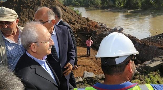 CHP lideri Kılıçdaroğlu Ordu'da sel bölgesini inceledi