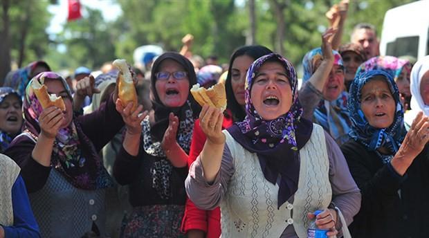Bursa'da biyokütle enerji santrali inşaatına gelen tepkiler sonucu jandarma köyden ayrıldı
