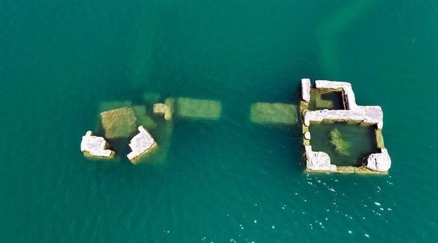 Hazar Gölü'nde 'batık şehir' bulundu