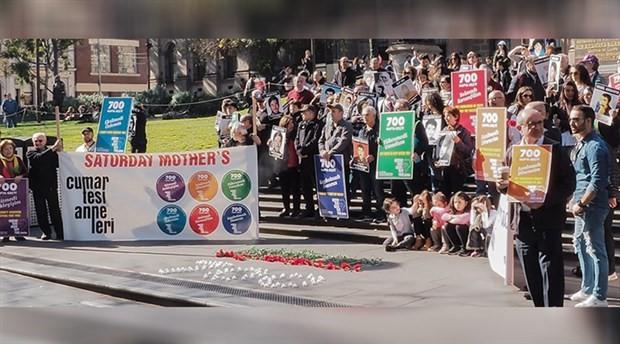 Dünya'da Cumartesi Anneleri'ne destek eylemleri