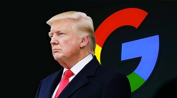 Trump: Google'da yapılan arama sonuçları hileli