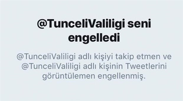 Valilik, milletvekilini Twitter'da engelledi
