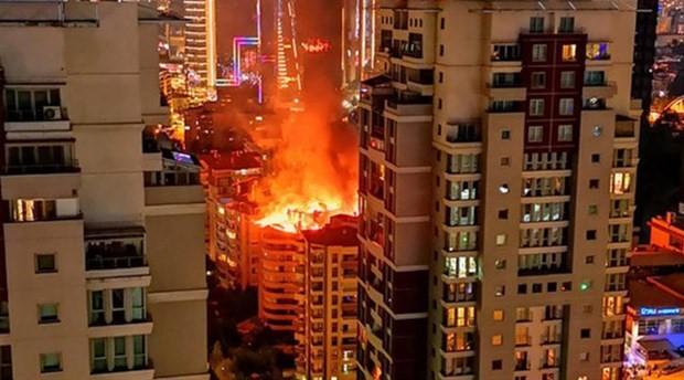 Ankara Çukurambar'da yangın