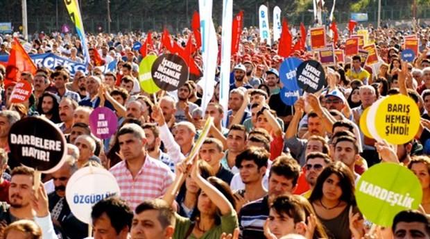 İstanbul '1 Eylül Dünya Barış Günü' mitingi Bakırköy'de